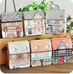 Cheap tin storage box, Buy Quality tin box directly from China tin tin box Suppliers:      New vintage style House Design quality Iron case/Tin box/Storage case 24Pcs/lot FreeShippin