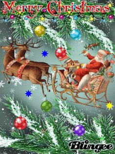 Animated Christmas Pictures, Merry Christmas Pictures, Merry Christmas To All, Christmas Wishes, Christmas Greetings, Winter Christmas, Vintage Christmas, Christmas Tree Gif, Christmas Scenery