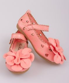Look at this Pink 3D Flower Cutout Ballet Flat on #zulily today!
