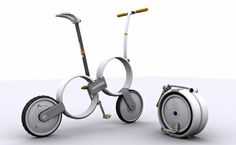 The 'One' bike is a design concept by industrial designer, Thomas Owen, a recent graduate of the UK's University of Derby, from whence he departed with a B. Sc. (Hons) in Product Design, Innovation and Eco-design.
