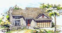 Floor Plans AFLFPW21888 - 2 Story Contemporary Home with 3 Bedrooms, 2 Bathrooms and 1,246 total Square Feet