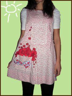 Lorak nunnahi :) Aprons, Applique, Casual, Ideas, Dresses, Fashion, Easy Crafts, Aprons Vintage, Work Clothes