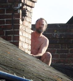 Bare Naked Roofer in Toronto, Aline Roofing believes in Bare Bones Pricing and Naked Honest Quotes for Roof Replacement and Roof Repairs in Toronto and the GTA #RoofRepair #Toronto #BareNakedRoofer #BNRTO #AlineTO  Rooftop: The man clambered up at around 8am on Friday morning and was still there nine hours later
