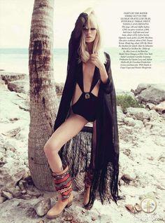 bohemian fashion editorials | Dewi Driegen, in Boho Beach - Fashion Editorial - Profile with models ...
