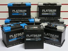 Platinum batteries - complete range available in store