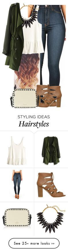 """XOXO"" by nimrah-b on Polyvore featuring H&M, Oscar de la Renta and Chicwish"