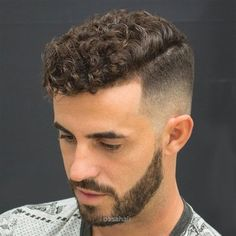 High Bald Fade With Natural Curly Hair