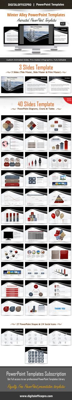 Camels PowerPoint Template Backgrounds Of, Shape and As - winter powerpoint template