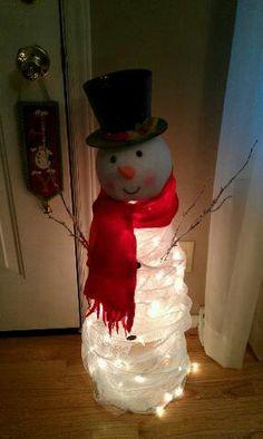 Standing Deco Mesh Snowman   CraftOutlet.com Photo Contest ...