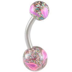 "14Gauge (1.6mm), 3/8"" Inch (10mm) long - 316L Surgical Stainless Steel belly navel button ring bar with Hand Painted balls ABLH - Pierced Body Piercing Jewelry bodyjewellery,http://www.amazon.com/dp/B006JH3FMI/ref=cm_sw_r_pi_dp_ZILyrbC51B3549B7"