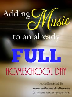 Already have a FULL Homeschool Day? Don't know how you would add music in too? Check out these 5 easy ways to sneak it in! :: www.yearroundhomeschooling.com
