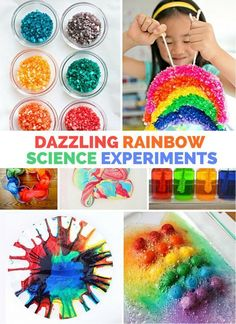 This rainbow paper experiment is a simple and dazzling STEAM art project! Create a unique rainbow paper craft that the kids will love and learn about thin-film interference! Awesome STEM activity and science experiment for kids. Science Activities For Kids, Kindergarten Science, Stem Science, Science Fair Projects, Science For Kids, Projects For Kids, Preschool Activities, Crafts For Kids, Learn Science