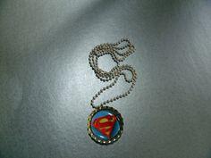 Superman Bottle Cap Necklace