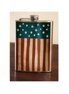 Old Glory American Flag - Stainless Steel Flask - via trixie and milo on etsy