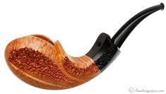 Starkov Smooth Teardrop Blowfish with Plateau Pipes at Smoking Pipes .com