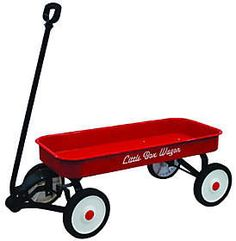 Oh, the places they'll go with this sweet metal wagon! Down the driveway, through the neighborhood, or just in the backyard, this sturdy wagon is perfect for filling with little treasures. The rolled edges are gentle on small hands.