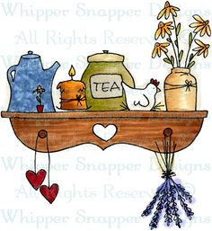 Country Shelf - Coffee/Tea - Food/Beverages - Rubber Stamps - Shop
