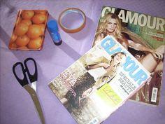 the White Peppermint: Tutorial Agendina Glamour  Occorrente: Vecchie riviste Agendina Nastro adesivo Colla Forbici Fantasia