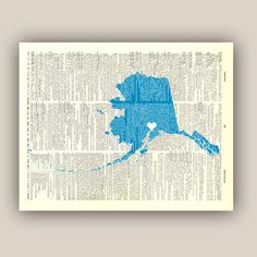 Alaska State Map Art PERSONALIZED 8x10 Print by PrintLand on Etsy, $19.50