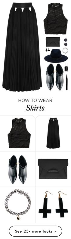 """""""Trend: Maxi Skirt"""" by simplyamity on Polyvore featuring Abercrombie & Fitch, Givenchy, Kim Kwang, rag & bone, Chicnova Fashion, Accessorize, Marc Jacobs and Essie"""