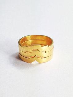 Nomera Jewellery set de trois bagues