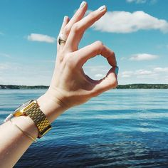 #Stockholm - The Time Teller from @ lolavv #Nixon - All gold - Stainless Steel - nature - sea - sky