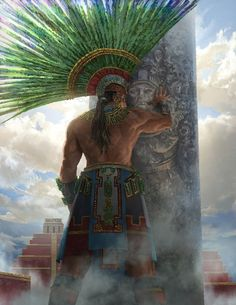 New World by Shen Fei on ArtStation. Artwork Fantasy, Fantasy Art, Aztecas Art, Mexican Artwork, Aztec Culture, Mexican Heritage, Aztec Warrior, Mexico Art, Chicano Art
