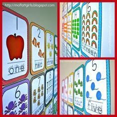 The Moffatt Girls: Cutesify Your Classroom Part 2 number cards