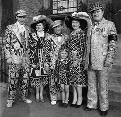 Pearly Kings and Queens of the East End of London - Henry Croft pioneered the tradition.