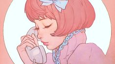 wallpaper for desktop, laptop | bj13-pink-phone-girl-cute-anime-drawing-art-ilya Naruto Drawings, Anime Girl Drawings, Cartoon Drawings, Easy Drawings, Drawing Wallpaper, Girl Wallpaper, Animated Unicorn, Hello Kitty Drawing, Panda Wallpapers