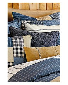 Weathered Blues Boiled Wool Pillow | Eddie Bauer