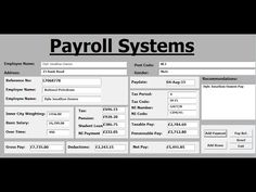 how to create payroll systems in excel using vba full tutorial