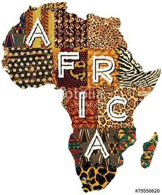 Wonderful Africa Patchwork Vector Map