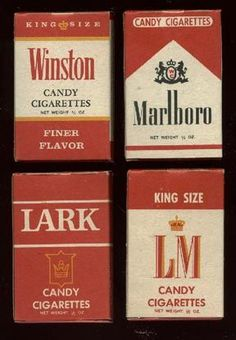 Remember those good old days, when you could walk into the local candy store and buy a pack of authentic candy cigarettes? Retro Candy, Vintage Candy, Retro Vintage, My Childhood Memories, Sweet Memories, Old School Candy, Candy Cigarettes, Nostalgic Candy, Nostalgia