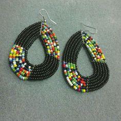 Stylish Beaded Multi Colored Earings