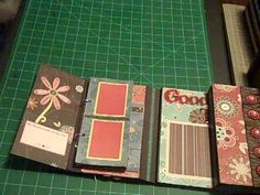 Cute Flip Mini Album made from kraft cardstock & Tim Holtz binders. Tutorial here: http://www.youtube.com/watch?v=TOiuOU9q7qA