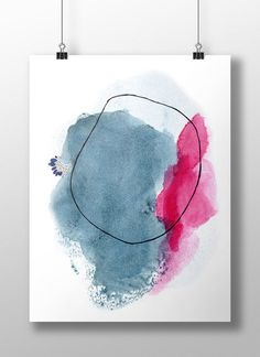 Large Abstract Print. Large Abstract Art Print. by AdriLunaStudio