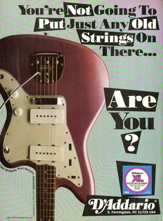 D'Addario Guitar Strings Promo Ad - Fender Guitar - Music Memorabilia - Music Gift - Paper Ephemera - Music Room Decor - Music Advertisement by MusicSellerz on Etsy