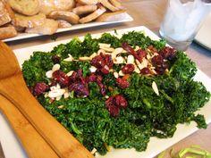 Cranberry Orange Kale Salad... Oh YUM! Vegan heaven...