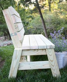 Awesome 40 Cheap DIY Outdoor Bench Design Ideas for Backyard & Frontyard https://roomaniac.com/40-cheap-diy-outdoor-bench-design-ideas-backyard-frontyard/