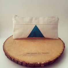 Triangle Pencil Case Cotton Pouch Gadget Case Geometric by aylla #pouch #pencilcase  #handmade