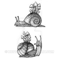 Snails dotwork