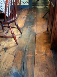 Antique reclaimed chestnut flooring - absolutely love the character.