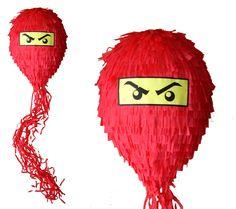 PINIATA+NINJAGO+czerwony+++KIJ+++OPASKA++/+PINATA+w+hanako-design+na+DaWanda.com
