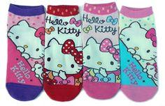 JJMax Women's Hello Kitty Cotton Ankle Socks Set