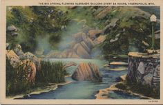 1930's Wyoming Postcard.Hagins collection.