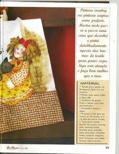 Talita Monteiro: Pintura em Tecido Boneca