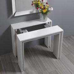 Tavolo Consolle Allungabile Con Sedie Ikea.37 Fantastiche Immagini Su Tavolo Consolle Tavolo Consolle
