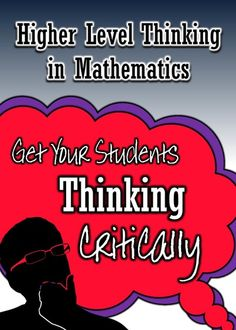 Ready to go to the next level with your students? Great post about ways to get your math classes engaged in higher-level critical thinking. Math Teacher, Math Classroom, Teacher Stuff, Classroom Ideas, Classroom Helpers, Math Vocabulary, Math Math, Teacher Tools, Math Strategies