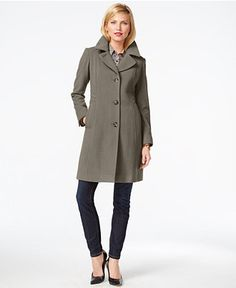 Anne Klein Wool-Cashmere Walker Coat - Coats - Women - Macy's
